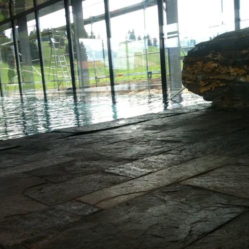 Schwimmbad aus Silberquarzit Hotel Kaufmann Roßhaupten